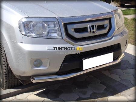 Honda Pilot 2008-2012г.в.-Защита переднего бампера d-76 (соответствует новому тех. Регламенту)NEW